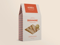 Vintage inspired granola packaging design