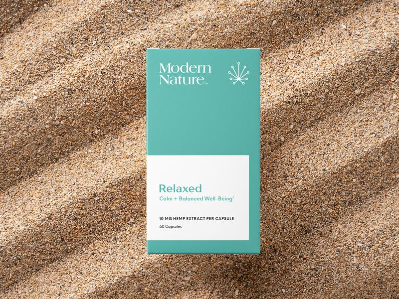 Modern Nature Relaxed Packaging cannabis logo cannabis branding hemp packaging branding logo minimal vitamins supplement cbd