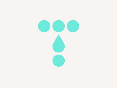 Total Hydration Logo electrolyte vitamins supplements minimal brand identity minimal logo sports logo keto t logo water drop water logo branding logo