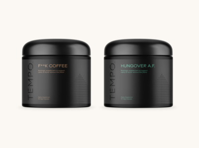 Premium Men's Supplement Packaging Concept