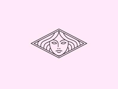 Medusa Inspired Brand Icon woman logo woman illustration woman portrait medusa skincare brand illustration minimal branding logo