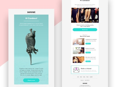Sonnet Email Redesign marketing design redesign template newsletter email