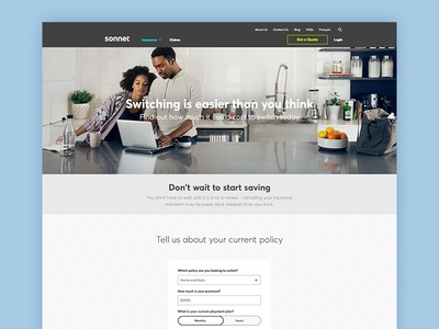 Sonnet - New Landing Page