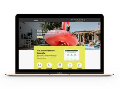 Sonnet Redesign website redesign design site sonnet insurance design lead creative direction ux ui product design