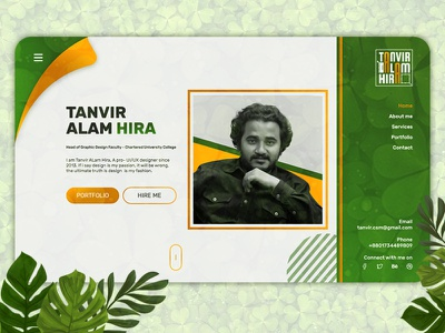 Portfolio Site | Website Template | Self Promotion resume design web template resume clean cv vcard design clean design branding ui ui design resume template