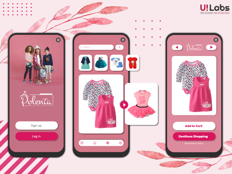 Polenia Online Shop UI interactiondesign online shop ui pink ui interaction illustration vector logo ui ui design design clean 2020 branding clean design