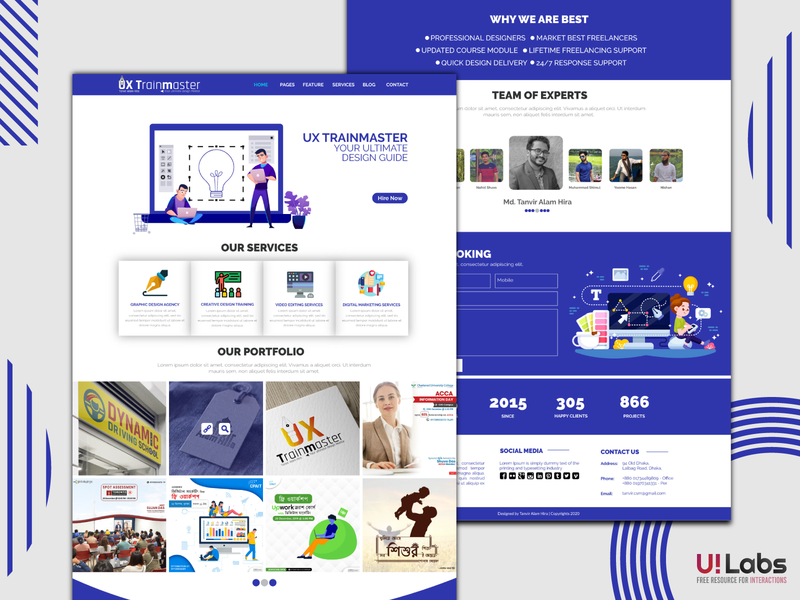 Team Portfolio Site Template ux design landing page web template design website design web design website interaction ux logotype logo design illustration ui ui design design clean 2020 branding clean design