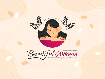 Beautiful Woman | Logo for a client vector illustration logo ui ui design design clean 2020 branding clean design