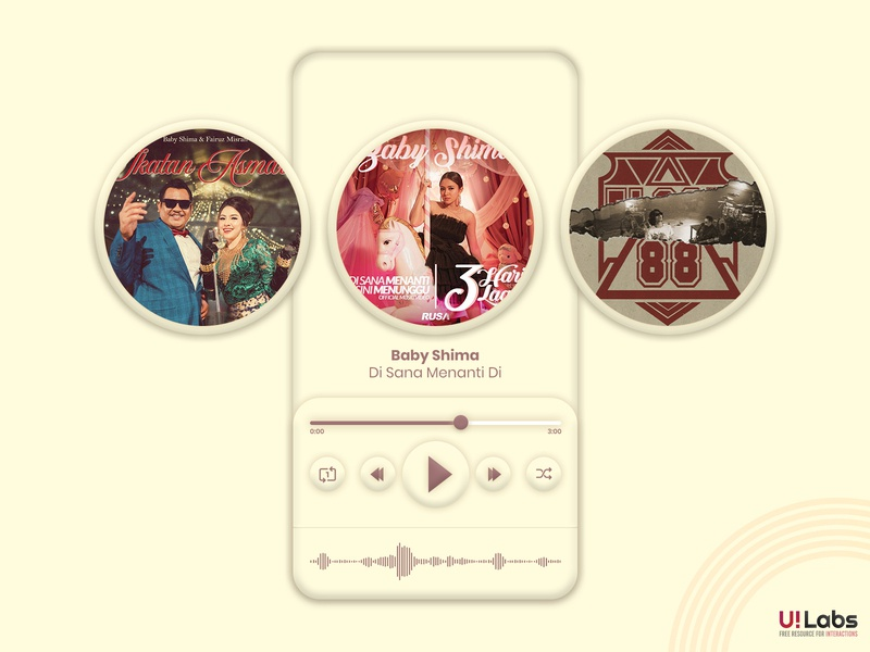 Music Player UI interactiondesign music player design interaction app ux ui ui design design clean 2020 branding clean design