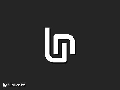 Univoto™ | Minimal Logo Template typography u letter logo holographic lettermark brand identity brand