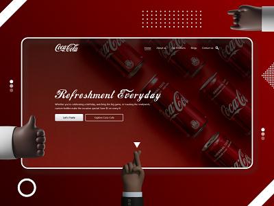 🔥 Coca-Cota oops sorry Coca-Cola 😆 header flat screen header design landing page header exploration website header coca-cota cocacota coca cola coca-cola cocacola