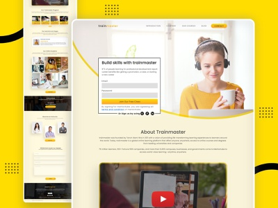 Trainmaster - Web UI 🔥🔥 branding website design web dribbble best shot best of dribbble dribbble popular trend 2021 web template online school clean website web ui
