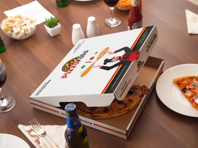 Pizza Box Design box design pizza box product packaging branding clean clean design