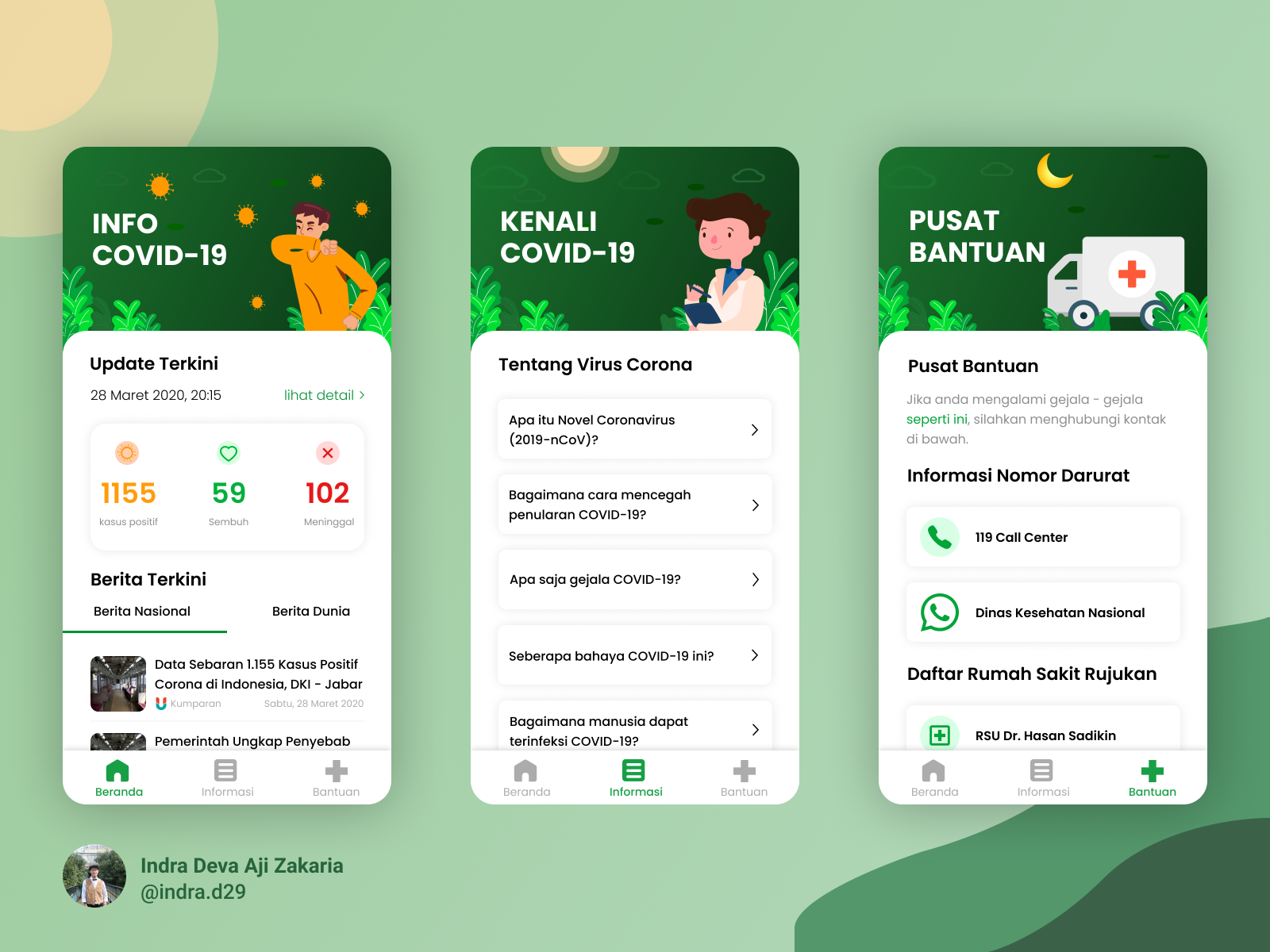 Covid 19 Tracker Apps Design By Indra Deva Aji Zakaria On Dribbble