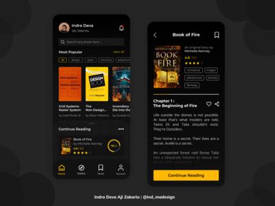 Book App Design - Dark Mode