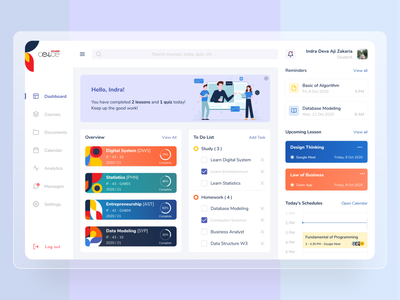 CeLOE Dashboard Redesign Concept redesign web ui ui design uidesign ux uiux ui blue and white white blue web ui ux web design web webdesign clean layout clean dashboard app dashboard design dashboard ui dashboad