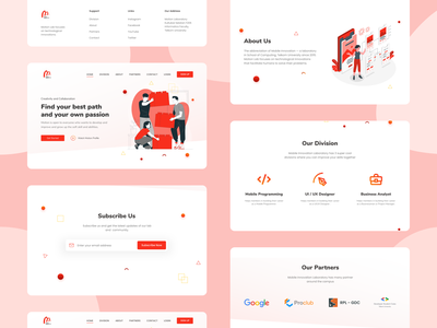 Motion Laboratory All Section Design motion design red redesign website design webdesign ui branding illustration web design uiux ui design uidesign