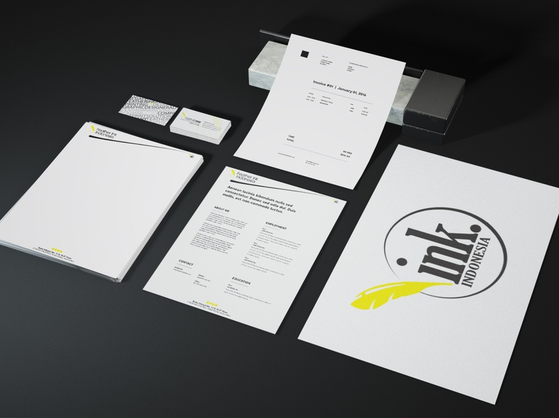 Company Stationary Set branding logo illustrator design