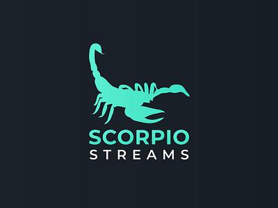 SCORPIO STREAMS twitch logo scorpion logo designer logo design logodesign logo icons icon flat design branding