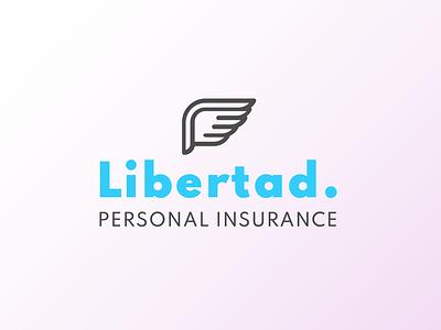 Libertad Insurance wing insurance logo logo designer logo design logodesign logo icons icon flat design branding