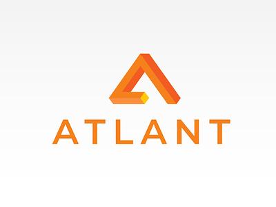 ATLANT Financial Services geometric a anagram monogram vector ui illustration logodesign logo icons icon flat design branding