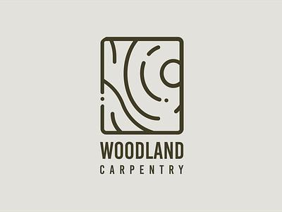 WOODLAND woodwork carpenter wood vector illustration logodesign logo icons icon flat design branding