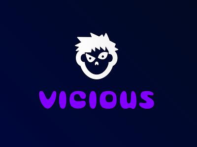 VICIOUS STREAMS stream logo twitch logo twitch vector ui illustration logodesign logo icons flat icon design branding