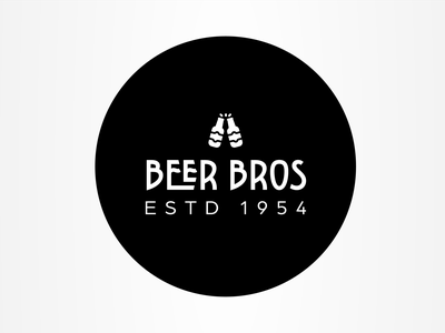 BEER BROS brewery beer ui vector illustration logodesign logo icons icon flat design branding