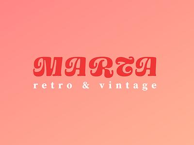 MARTA Retro & Vintage clothing streetwear fashion vintage vector illustration logodesign flat logo icons icon design branding