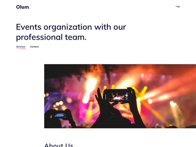 Olum - Business & Events Management Agency Sketch Template ux ui template simple organization modern minimal events design creative corporate cleam business blog agency