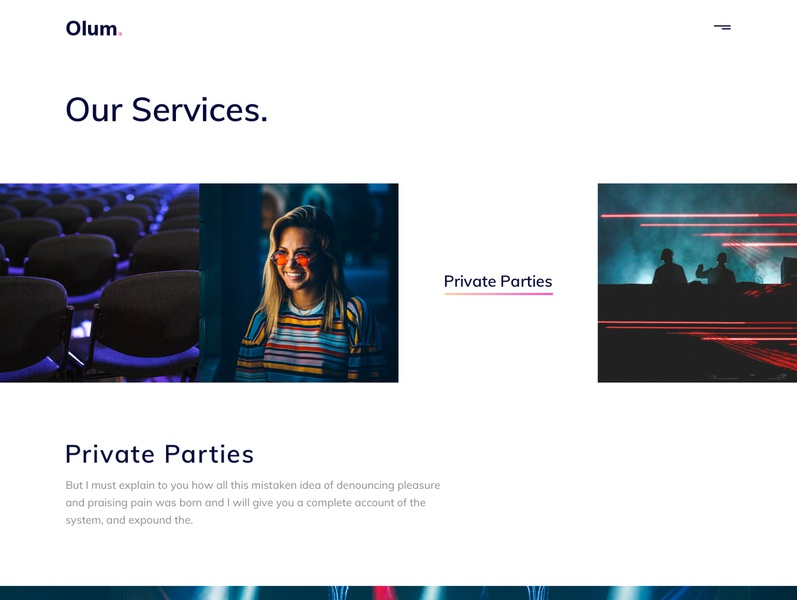 Olum - Business & Events Management Agency HTML Template template simple services organization modern minimal festival events design creative corporate clean business blog agency