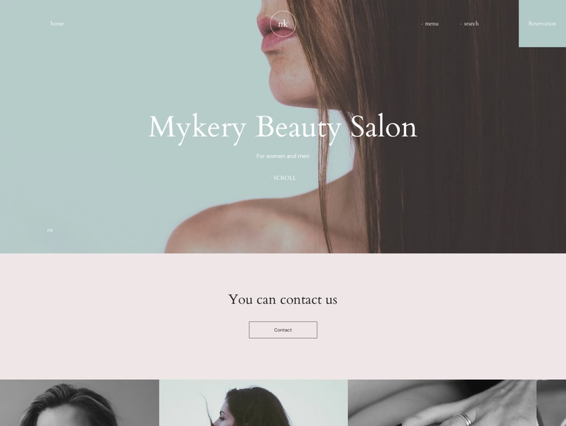 Mykery - Beauty Salon HTML Template simple pedicure nail salon modern makeup life style hairstylist hairdresser hair gallery design creative cosmetic clean