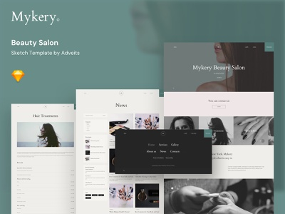 Mykery – Beauty Salon Sketch Template html5 free sketch free figma ux ui simple pedicure nail salon modern makeup life style hairstylist hairdresser hair design creative cosmetic clean