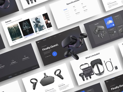 Invision — oculus reseller concept games headset technology one page onepage landing product ux design ui design website web design ux ui virtual reality vr