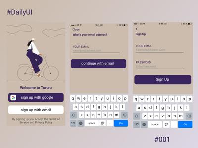 Sign Up app ux illustration dailyui challenge web 2020 ui design