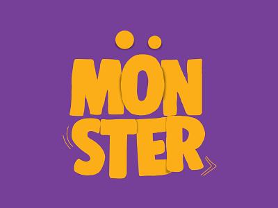 MOOOONSTER brand design type eye vector illustration illustrator fastfood sandwiches sandwich monster vector typography poster instagram post icon flat logo illustration minimal branding design