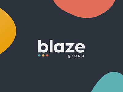 BLAZE GROUP LOGO poster graphic design ui vector logo illustration minimal branding design