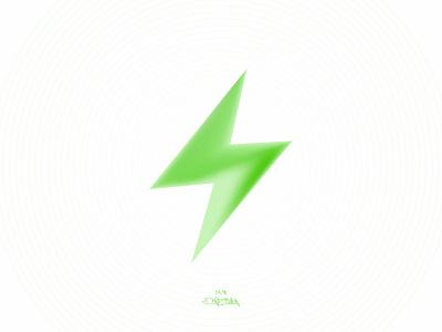 BOLT lightning graphic design colour green storm thunder lightningbolt light bolt logo vector illustration poster branding minimal design