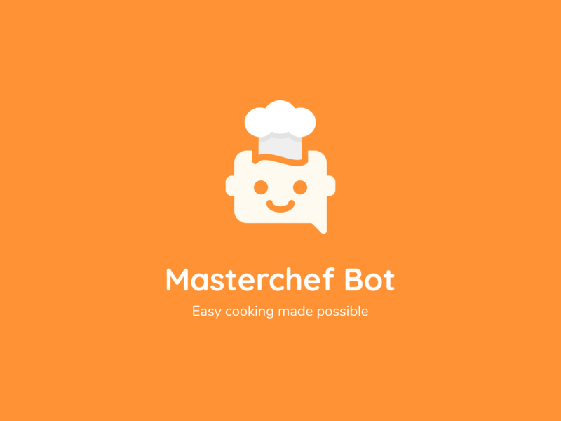 Master chef bot logo design chef logo bot food and drink food app branding brand identity dailyui dailylogochallenge recipes food logo design logo uichallenge healthy illustration iconography illustrator flat minimal