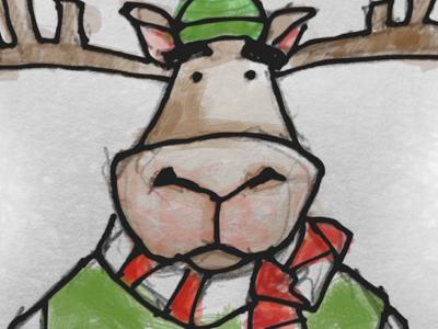 Moosen sketch christmas xmas reindeer