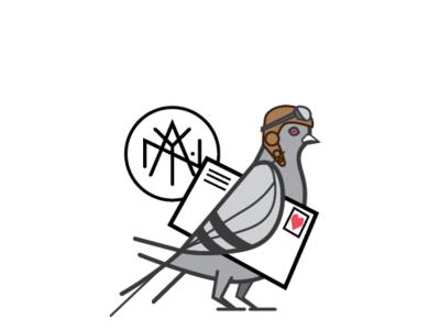 Sharing is Caring update bird identity logo brand wip always