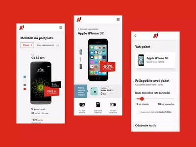 A1.hr Mobile telecommunication telecom web design interaction mobile ui mobile user experience user interface design ui ux