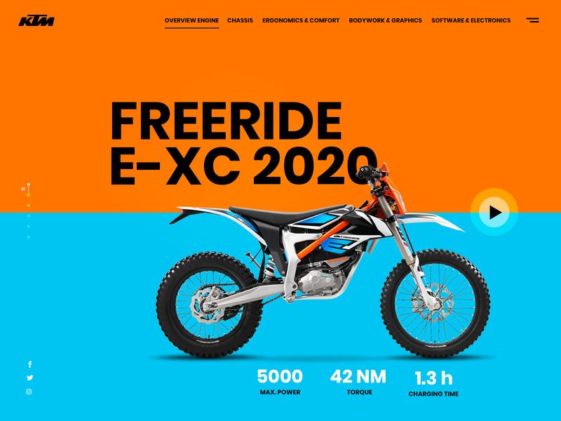 KTM Motorbike Landing Page