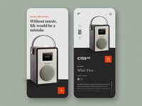Retro Radio Purchase App Concept price app music app radio online shop ui ecommerce orange app ios app design android app clean and simple app purchase app radio app classic app retro app online shop app ecommerce app best app design mobile app design ui ux app design