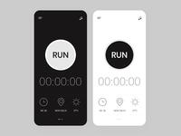 Minimal Chronometer Design App Concept app ui ux minimalism simple design chronometer andoid app mobile app clean app design minimalist app design uiux app stopwatch