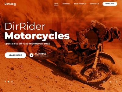 dirtRider Landing Page
