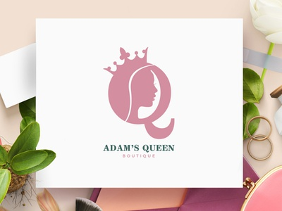 Adam's Queen - Logo & Icon Design branding concept branding and identity branding design branding modern logo minimalist logo chic logo design unique logo design boutique logo design fashion logo design minimal logo design royal logo royal logo design