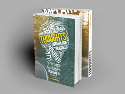 """Thoughts"" - Book Cover Design quotes book design quotes book design vector illustrator design word cloud design word cloud design light bulb design light bulb design thoughts cover design thoughts cover design vector illustration vector design illustration book design book cover"