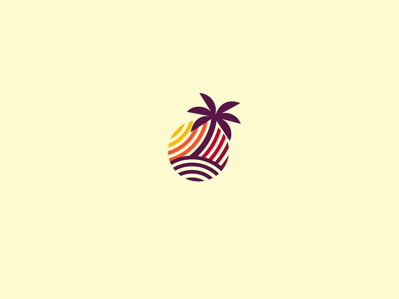 Tropical Sunset - Logo Design