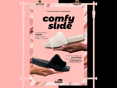 Comfy Slide mulher art direction women design lettering poster